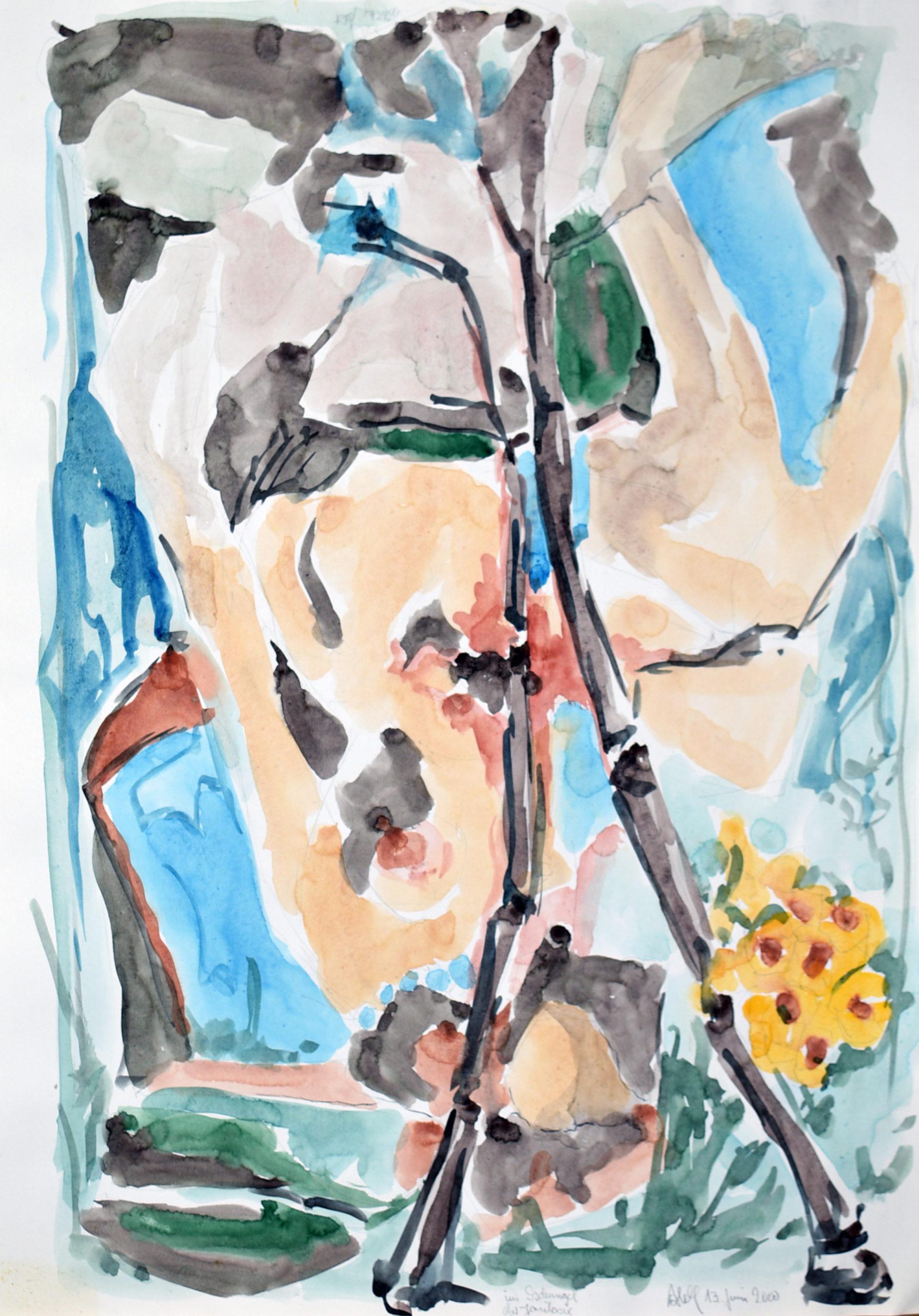 Gemälde von Hans-Jürgen Ahlf Im Dschungel der Jalousie