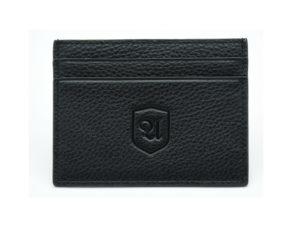 Kartenetui Darcase aus Leder in schwarz