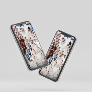 Zwei Handys mit dem Hintergrund Wallpaper English Style